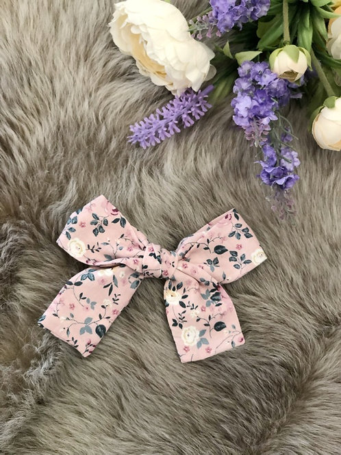 Bow Floral Pink