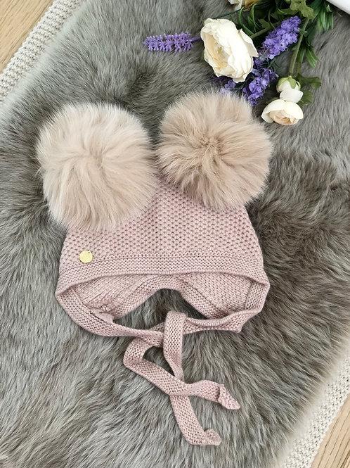 Pompom Bonnet Cashmere