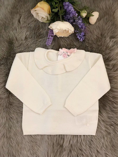 Sweater knitted Ivory