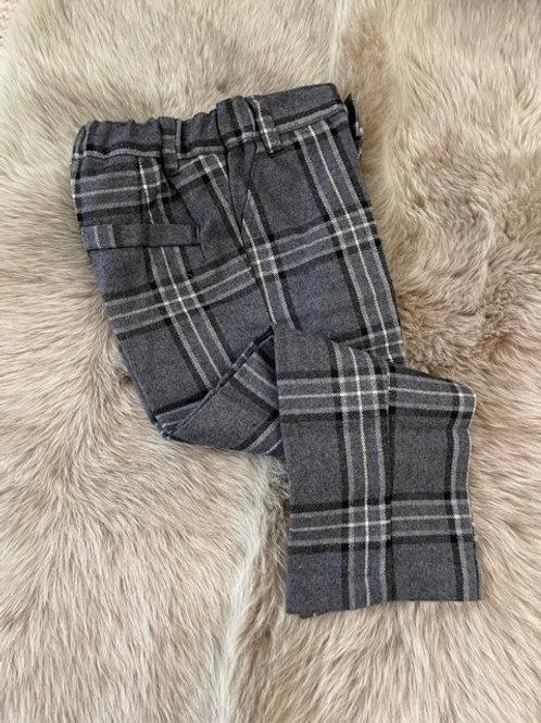 Malvi Trousers Checked Grey