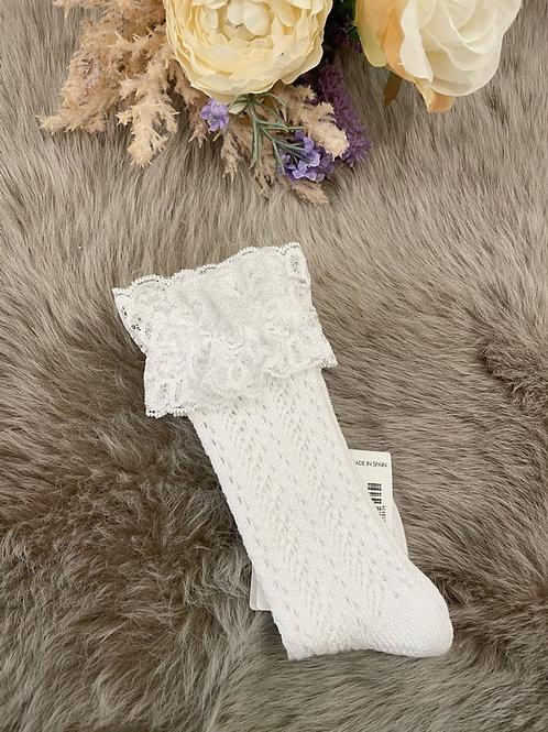 Romantic Socks Lace White