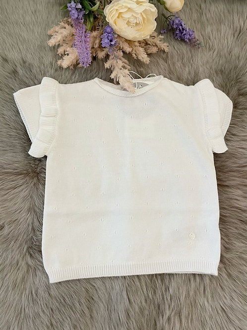 Sweater Ivory Frill