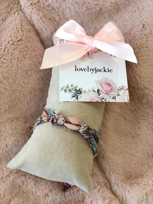 Shell Bracelet Boho Pink