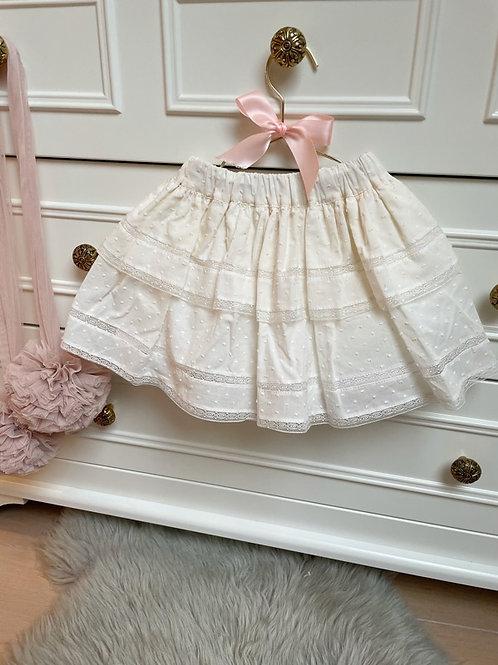Ruffle Ivory Skirt