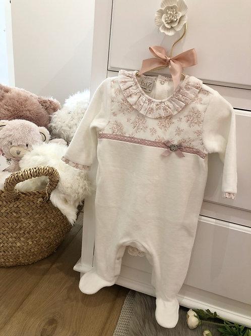 Pyjamas Ivory Floral Pink
