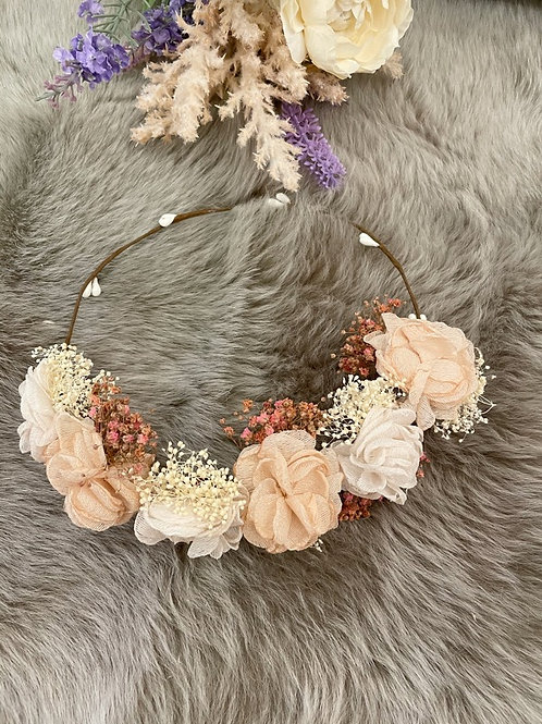 Flower Crown Antique Pink
