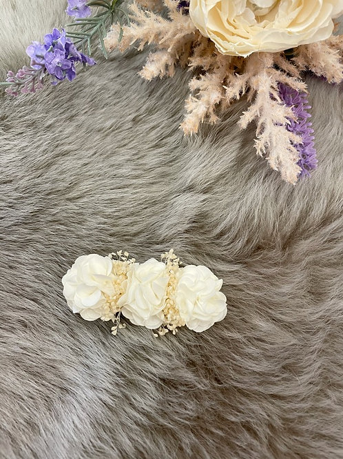 Floral Ivory Bow