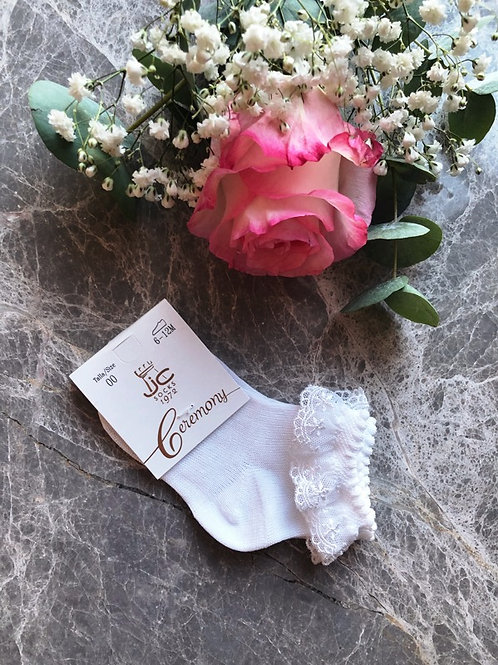 Lace Ankle Socks White