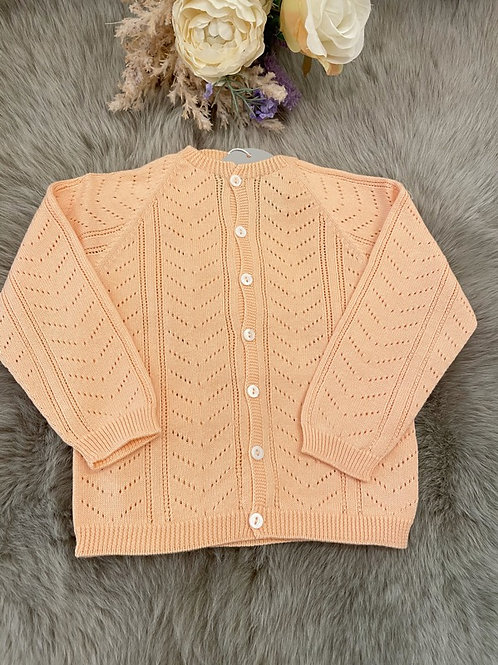 Cardigan Knitted Ajour Peach