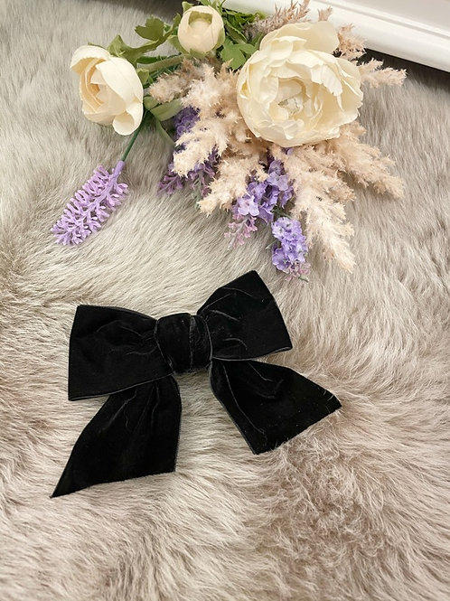 Big Bow  Velvet Black
