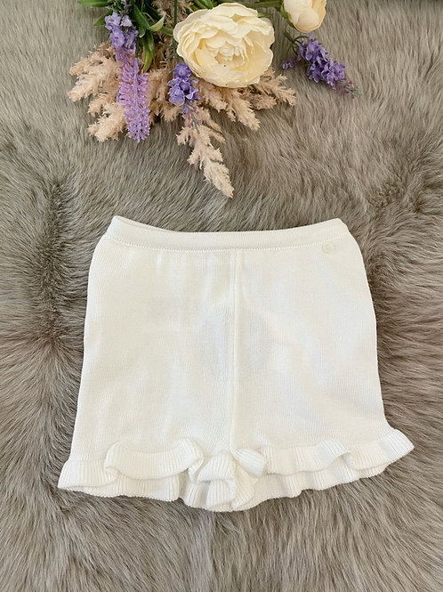 Knitted Ivory Shorts