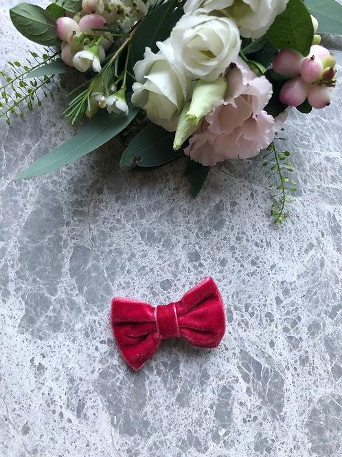 Velvet Bow Cherry Red mini