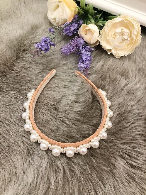 Hairband Nude Pearls