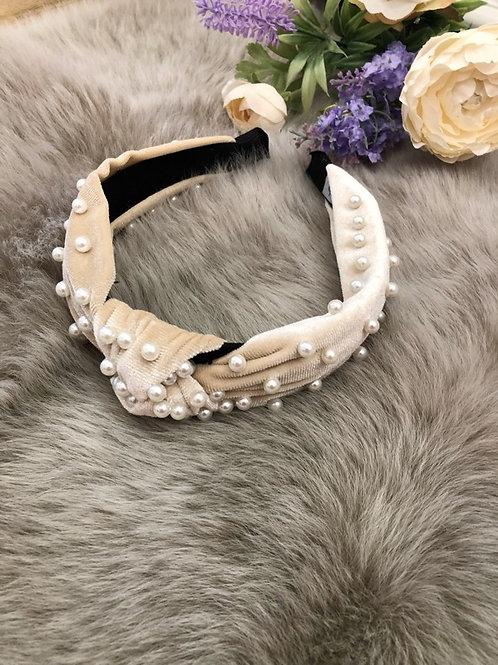 Hairband Velvet Ivory