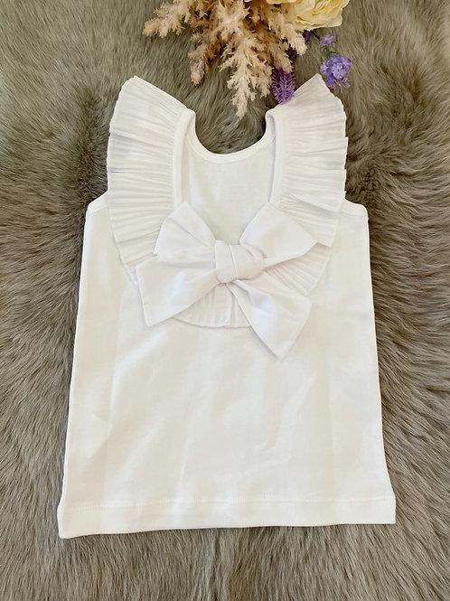 Shirt White Bow