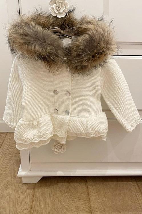 Ivory Furry Jacket Sigar