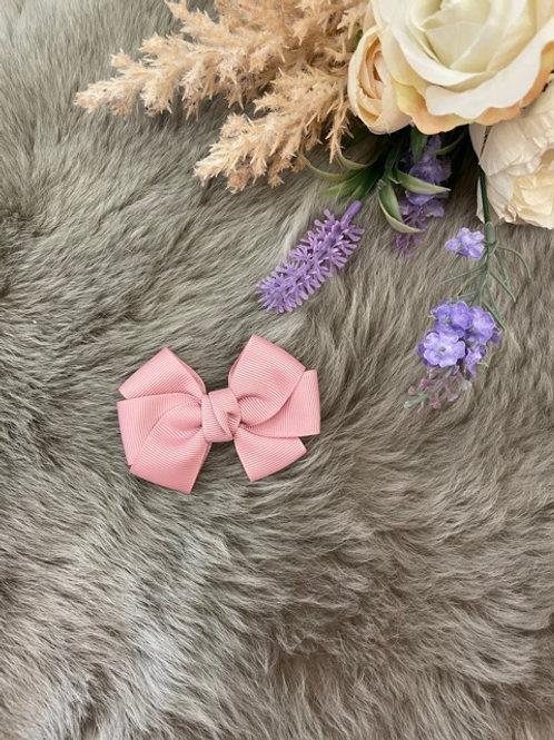 Grosgrain medium Bow Dusty Pink