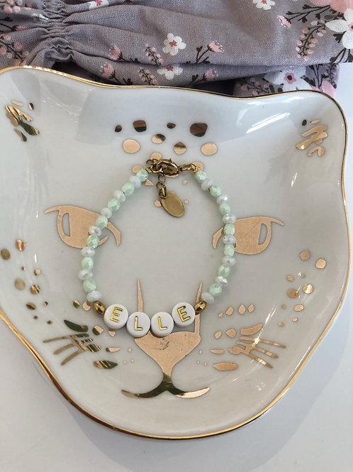 Bracelet name baby mint