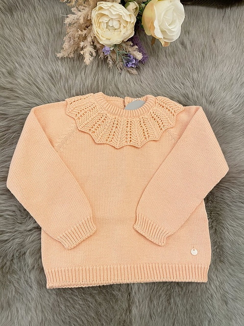 Sweater Peach Collar