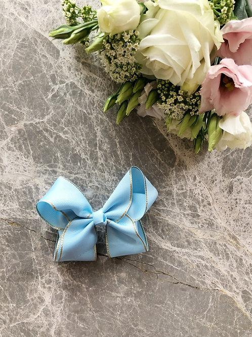 Grosgrain Blue Bow