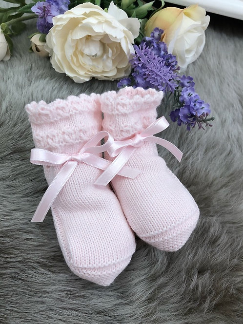Soft Pink Booties