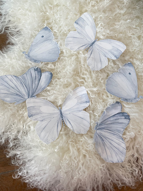 Wallsticker Butterflies Blue