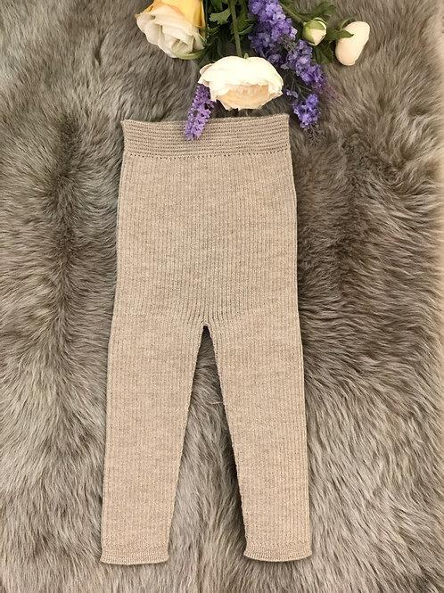 Beige Knitted Leggings
