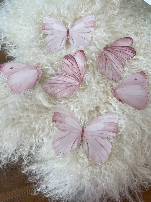 Wallsticker Butterflies Pink