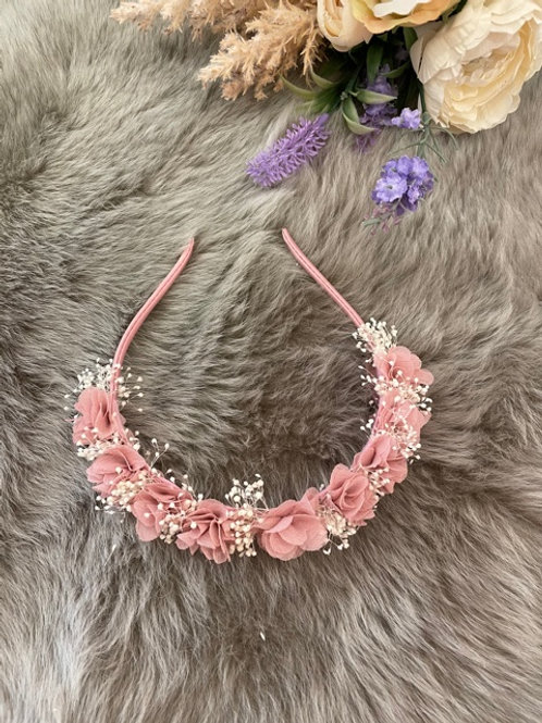 Hairband Floral Dusty Pink