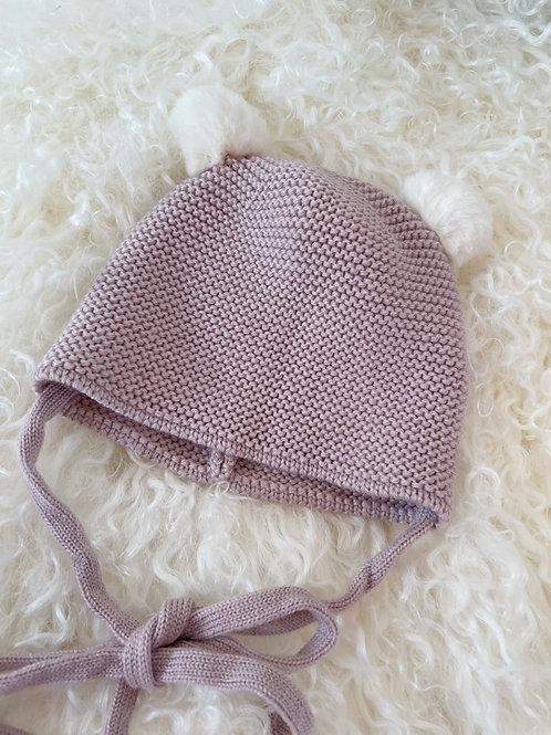 Paz Knitted Baby Hat Pink