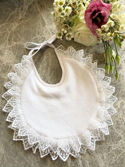 Bib White Lace