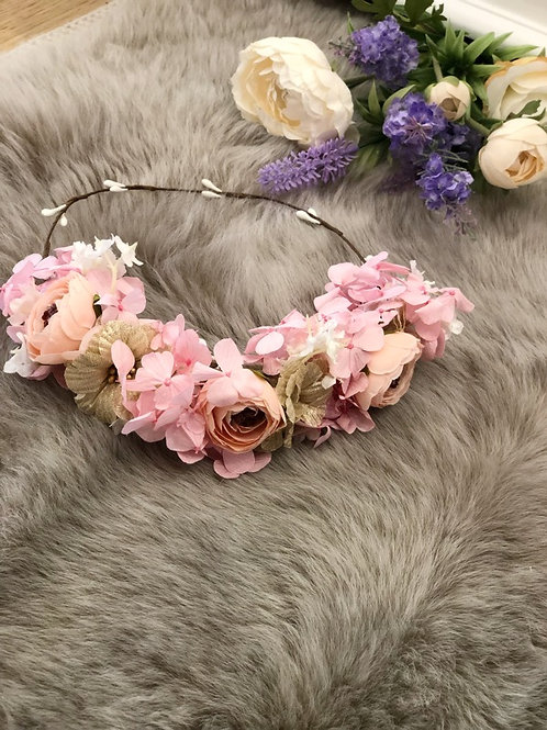 Flower Crown Pink-Gold