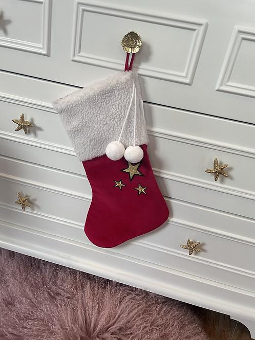 Santa Socks Red