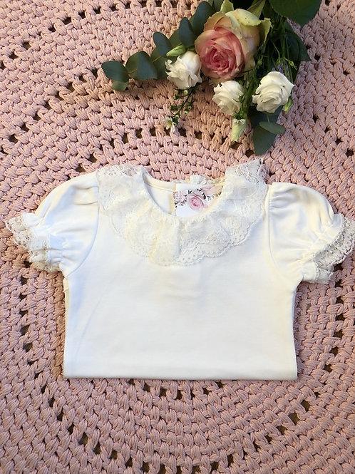 Body Ivory Luxury Lace Short Sleeves