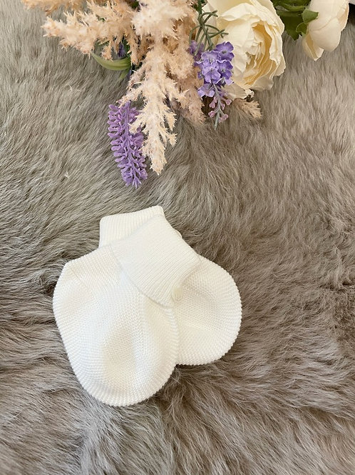 Ivory Baby Booties