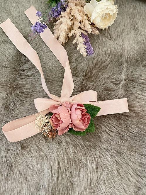 Flower Belt Peony Pink