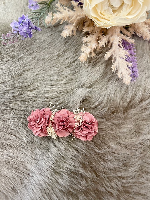 Floral Dusty Pink Bow