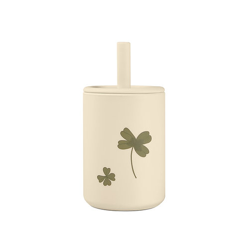 Cup with straw Clover