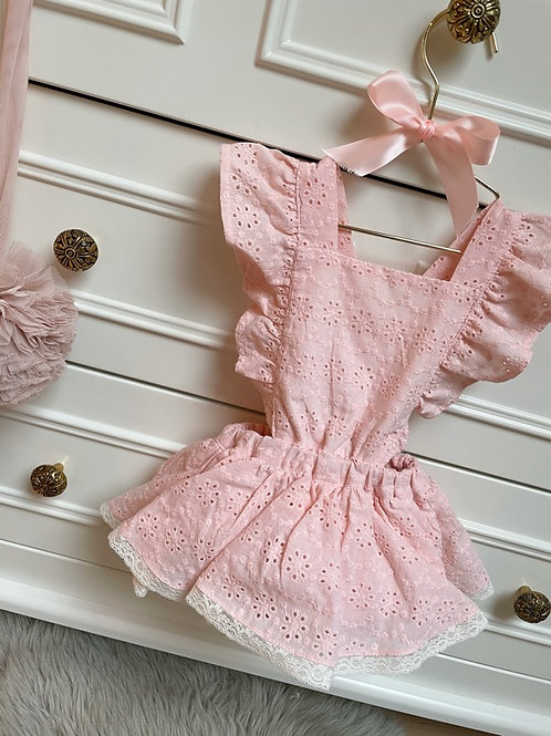 Romper Lily Pink Embroidery