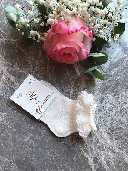 Lace Ankle Socks Ivory
