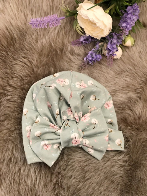 Turban Hat Blossom Mint