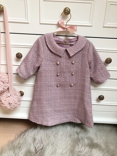 Dress Tweed Pink