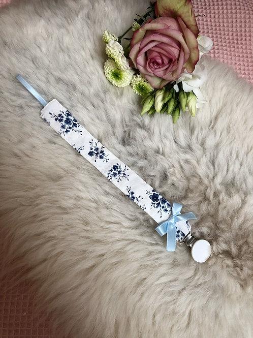 Pacifier Clip Floral Blue