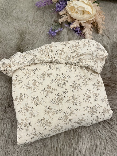 Ivory Floral Fitted Sheet