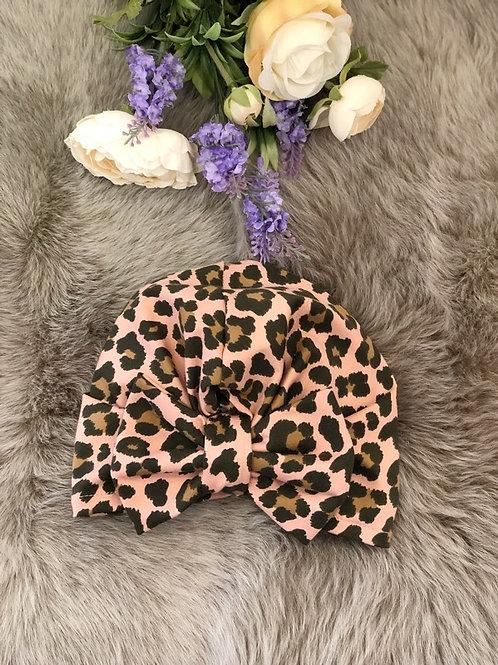 Turban Hat Leopard Pink