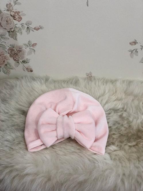 Turban Hat Velvet Pink