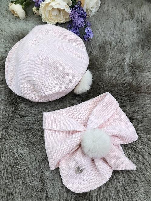 Beret Set Pink