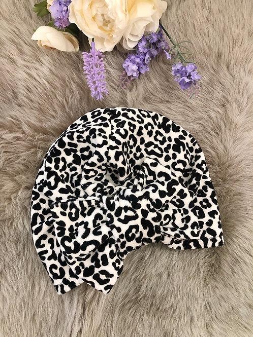 Turban Hat Velvet Leopard