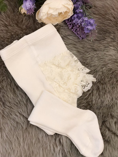 Lace Ivory Tights