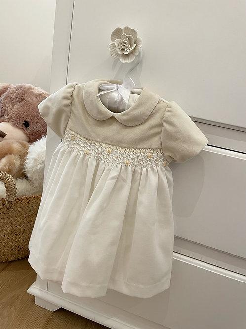 Smocked Dress Ivory